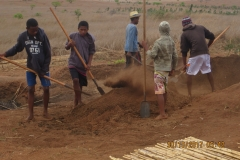 preparazione del terreno per i vivai